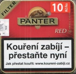 Panter filter red cigarillos 20ks