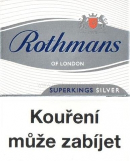 Rothmans superkings silver 100